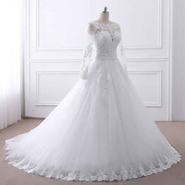 Lace O-Neck Wedding Dress 2