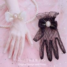 Fatto a mano lolita tea flowers Mary guanti lolita Hand cuff jewelry splendido elegante pizzo estivo
