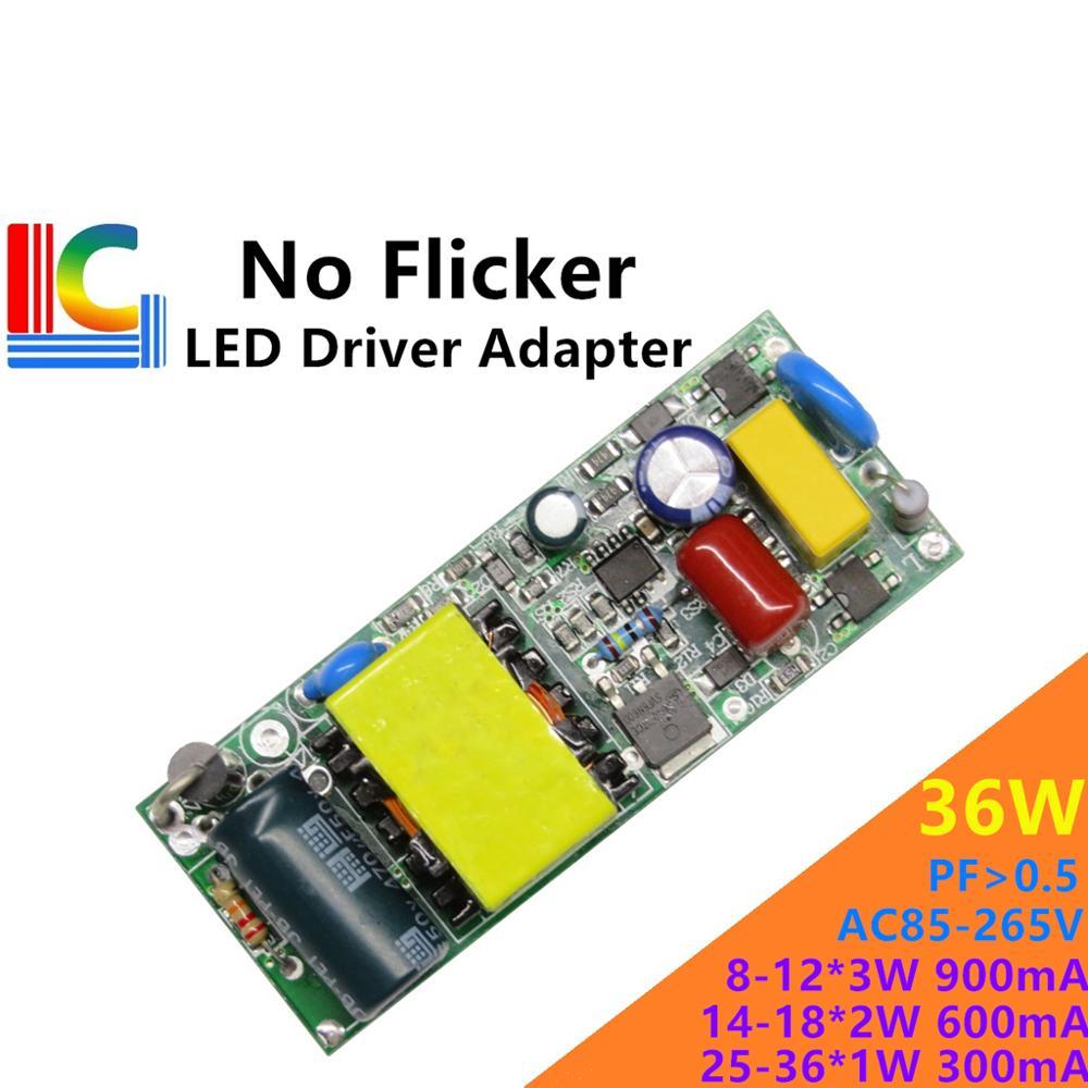 no flicker LED Driver adapter 12*3W 18*2W 36*1W 300mA 400mA 500mA 600mA 700mA 800mA 900mA LED Transformer LED Bulb Power Supply Pakistan