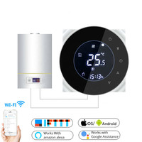 Wifi Smart Water/Gas Boiler Thermostat Tuya Remote Control Backlight Weekly Programmable LCD Touch Screen Temperature Controller