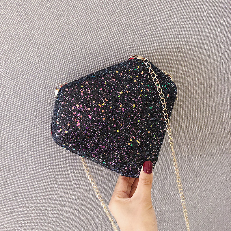 Sequins Bags For Women 2019 Diamond Shape Chain Laser Shoulder Bag Cute Crossbody Bag Women Messenger Bags Bolsa Feminina