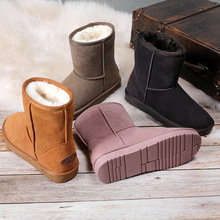 ZUZI Snow Boots Women Real Leather Mid-Calf Waterproof Warm Winter Boots For Women Australia Classic Style Shoes Zapato Mujer