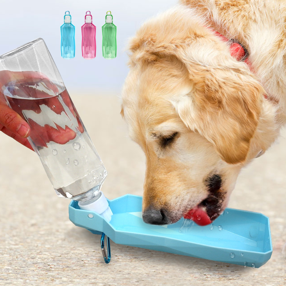 250ml Portable Dog Water Bottle Drinking Bowls Foldable Plastic Pet Puppy Water Dispenser Outdoor Travel Dog Cats Feeder