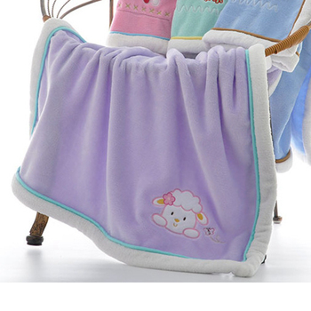 Baby Blanket High Quality Soft Absorbent Material Breathable For Newborn Infants Animals Print Flannel Fabric Things For Blanket