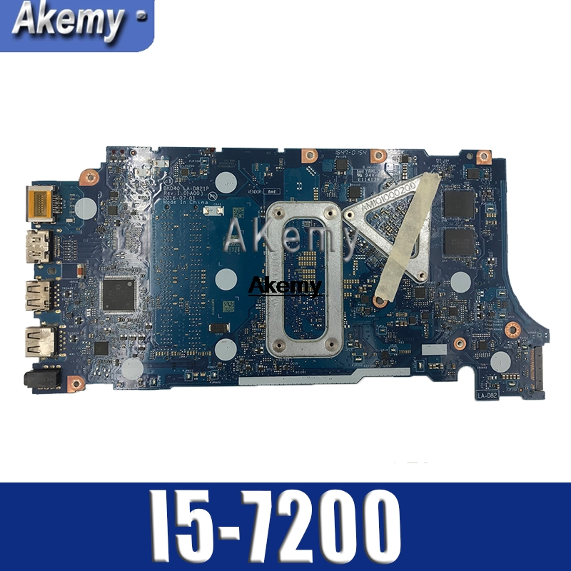 Akemy for Dell Inspiron 7460 <font><b>7560</b></font> Laptop <font><b>Motherboard</b></font> i5-7200U CPU BKD40 LA-D821P 100% Tested Mianboard image