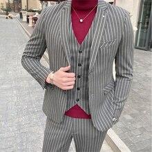 (Jackets+Vest+Pants) 2020 Men Wedding Suits Tuxedo