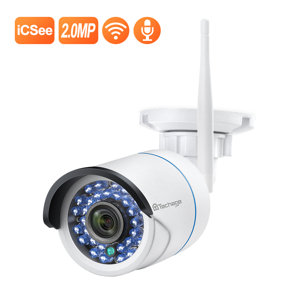 Techage 1080P IP Camera Wireless Home Security Camera Surveillance Camera Wifi Motion Detection Outdoor Waterproof Camera CCTV