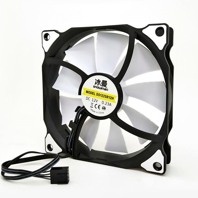 SNOWMAN PWM 4 Pin 120mm Computer Case Fan Silent 12CM Fan CPU Cooling RGB Quiet PC Cooler Fan Case Fans 12V DC Adjust Fan Speed 1