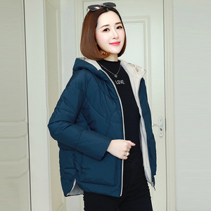 Image 4 - Winter Warm Hooded Coats Women Casual Jackets New Fashion Double Pocket Thick Cotton Parka Female Outerwear Coat P241