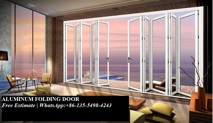 Metal Aluminum Kerala Lowes Cheap Accordion Folding Doors,Exterior Soundproof Transparent Glass Bi Fold Door