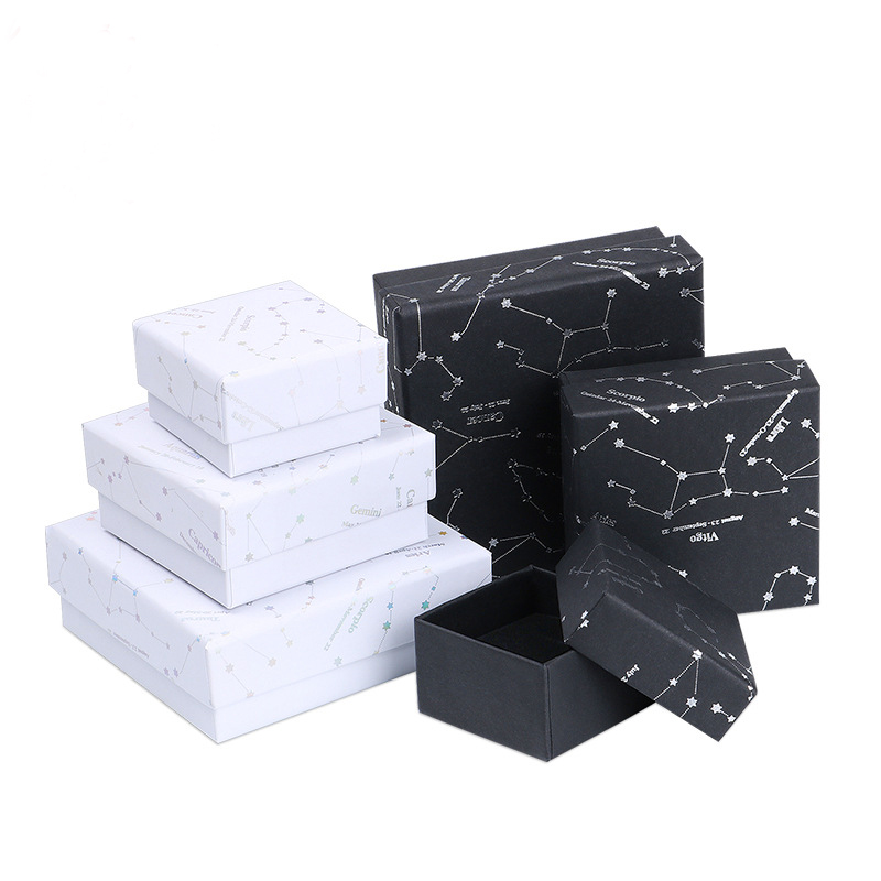 2019 NEW  1pcs   Jewelry Package ,different Size White/black Kraft Paper Box For Earring/ring /bracelet Jewelry Box A58