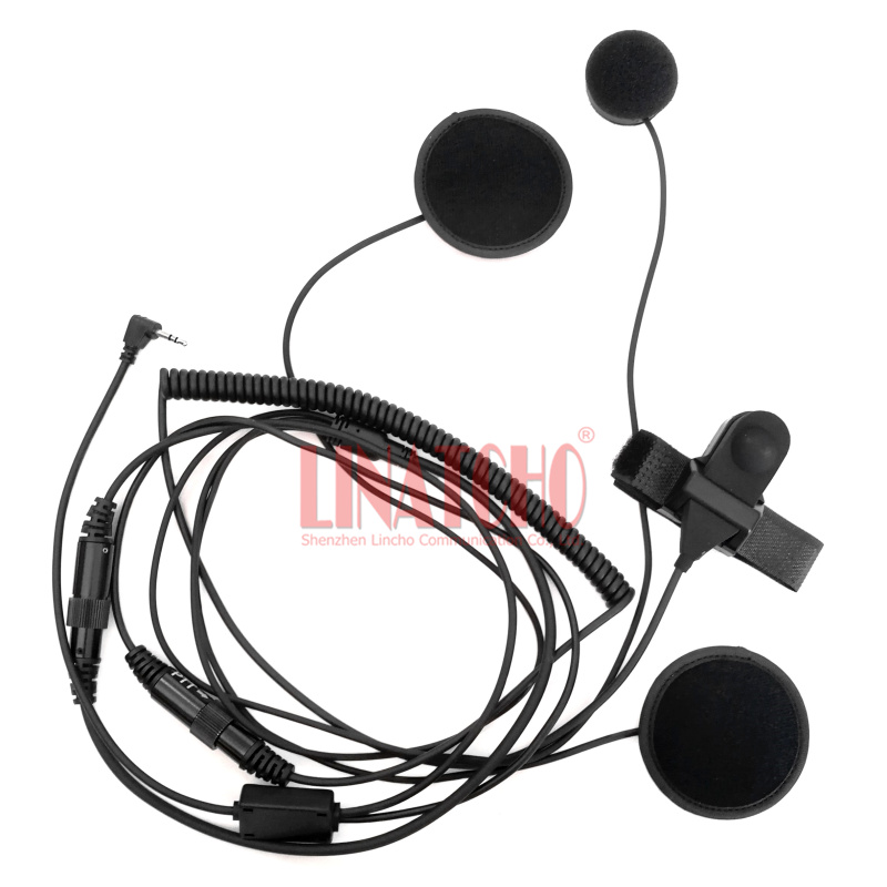 2.5mm Pin T5412 T5420 T5422 Walkie Talkie Finger PTT MIC Full Face Earmuff Headset Motorcycle Helmet Earphone