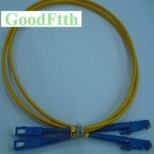 الألياف التصحيح الحبل البلوز E2000/UPC SC/UPC E2000 SC UPC SM دوبلكس GoodFtth 100 500 متر