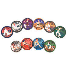 New Hot 25Pcs/Lots Beauty Ceramic Poker Chips Baccarat Texas Hold'em Casino Club Playing Cards Mahjong ETP Chips Set Board Games