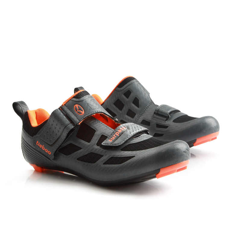 Tiebao Triathlon Professional Men Cycling Shoes Breathable Road Bike Bicycle Self Lock Shoes Racing Athletic Sneakers zapatillas