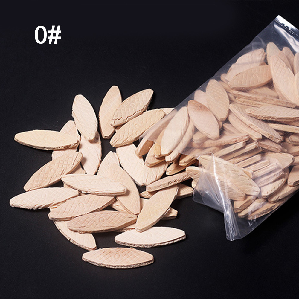 100pcs DIY Art Tool Wood Biscuits Joiner Home Craft Supplies Connection Plates For Woodworking Stability