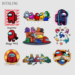 Among Us Patch New Video Game Among Us Sticker On Clothes DIY Hoodies T-Shirt Patch Iron On Transfer Thermo-Stickers For Jacket