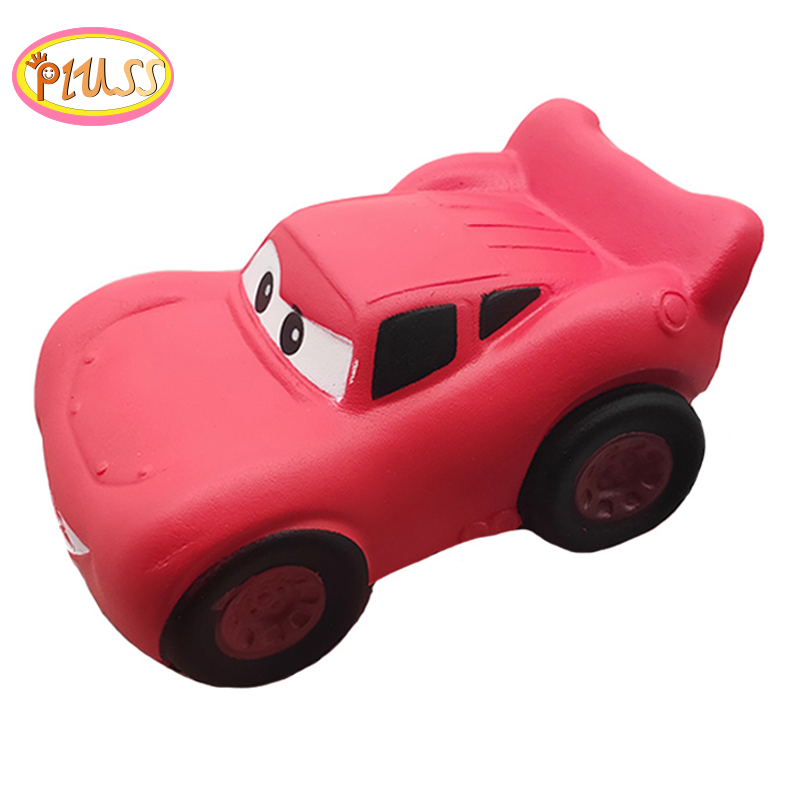 2020 New Arrived Kawaii Red Cars Squishy Simulation Soft Slow Rising Bread Scented Stress Relief Squeeze Toys Kids Creative Gift