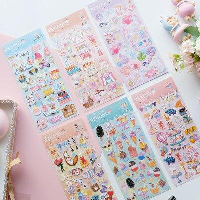 Korean Import Nekoni Sweet Ice Cream Playground Party Cute Stickers Scrapbooking Diy Tools Japanese