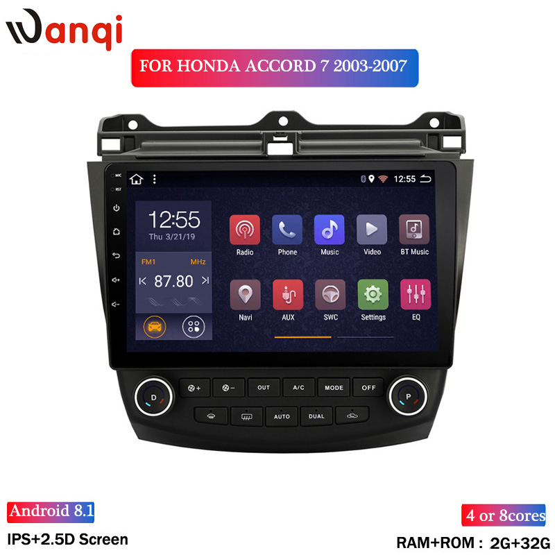 2G RAM 32G ROM 10.1inch Android 8.1 Car GPS Navigation For <font><b>Honda</b></font> <font><b>accord</b></font> 7 2003-2007 With Stereo Audio Radio Video image