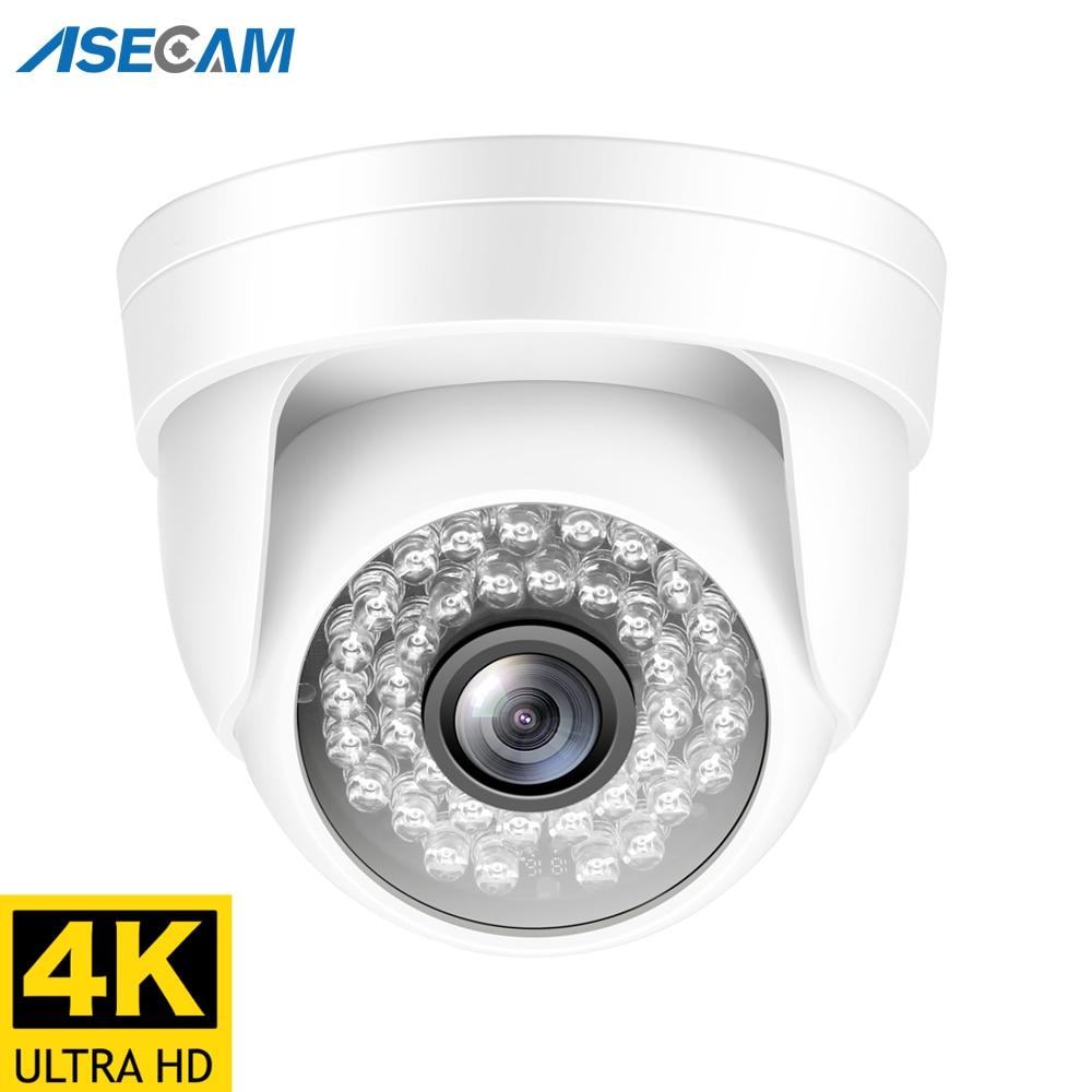 Caméra de Surveillance dôme intérieure IP POE HD 4MP/8MP/4K, dispositif de sécurité sans fil, avec Vision nocturne et codec H.265 et protocole Onvif 1