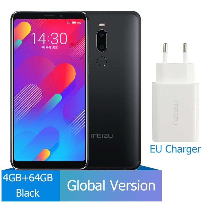 M8 4 Гб 64 Гб глобальная версия V8 смартфон Helio P22 Восьмиядерный экран 5,7 ''двойная задняя камера 3100 мАч отпечаток пальца - Цвет: 4GB 64GB Black