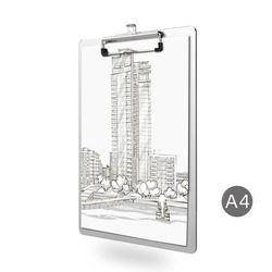 A4 Aluminum Alloy Writing Clip Board Antislip File Hardboard Paper Holder Office Y5GE