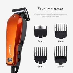 Image 5 - Kemei profissional máquina de cortar cabelo comprimento ajuste com fio aparador elétrico poderoso lâmina aço inoxidável máquina corte cabelo 35d
