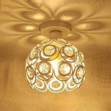 Crystal Ceiling Lamps Chandelier Modern K9 E27 Surface Mount Gold Home Light for  Hallway Aisle Hotel Balcony Plafon Luminaire