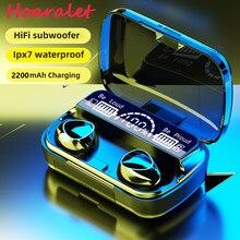 TWS Bluetooth 5,1 Kopfhörer Lade Box Drahtlose Kopfhörer 9D Stereo Sport Wasserdichte Ohrhörer Headsets Mit Mikrofon