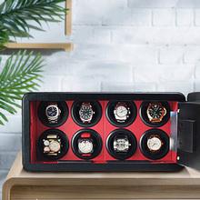 TurnFinger mechaniczny zegarek mechanizm automatyczny urządzenie luksusowy zamek szyfrowy zegarek kolekcjonowanie przechowywanie Box solidna śruba blokująca bezpieczeństwo tanie tanio RUIYI CN (pochodzenie) 25 5cm Zegarek nawijarki 42 3cm metal Nowy bez tagów 13150g 20 5cm