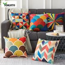 YokiSTG Cushion Cover Geometry Decorative Throw Pillowcases Linen Cover Home Decoration For Sofa Car Chair