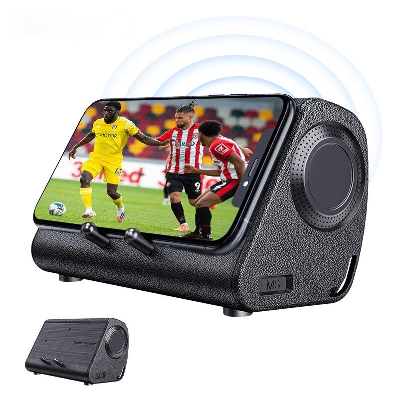 Bluedio MS portable speaker phone soundbar wireless induction speaker with sensor phone stand holder mini sound box loudspeaker