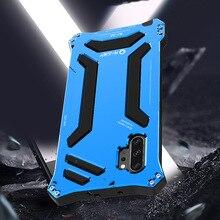 R-just металлический материал чехол для samsung NOTE 10 Plus легкий и роскошный дизайн для устройства антидетонационный хорошая защита для телефона
