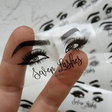 Stickers Logo Lipgloss-Tubes Eyelash-Package Mink-Cosmetic Personalised Custom 100pcs
