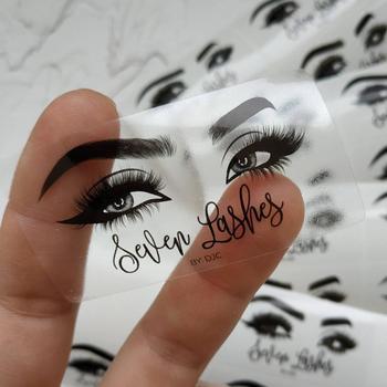 100 Pcs Custom Personalised Clear Stickers, Eyelashes Stickers, Logo, Eyelash Package, Lipgloss Tubes, Mink, Cosmetic