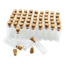 10 шт Мини стеклянные бутылки прозрачные дрейфующие бутылки рождественские маленькие бутылки желаний с пробками для свадьбы, дня рождения
