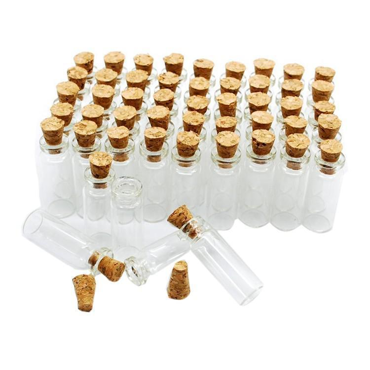 Hospitable 10pcs Mini Glass Bottles Clear Drifting Bottles Christmas Small Wishing Bottles With Cork Stoppers For Wedding Birthday Party To Win A High Admiration