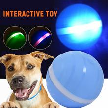 Safety Kid Toy Jumping Ball Waterproof USB Electric Pet LED Rolling Flash Funny For Cat Dog Kids Child Toys