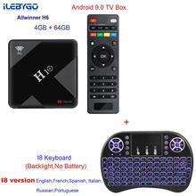 H10 TV Box Android 9.0 4GB 32GB Allwinner H6 Quad Core 6K Smart TV Box 4GB 64GB Dual Wifi 2.4G/5G USB3.0 Set top box