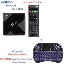 H10 tv ボックスアンドロイド 9.0 4 ギガバイト 32 ギガバイト allwinner H6 クアッドコア 6 18k スマート tv ボックス 4 ギガバイト 64 ギガバイトデュアル無線 lan 2.4 グラム/5 グラム USB3.0 セットトップボックス