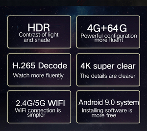 Image 2 - LEMFO TV Box أندرويد 9.0 H96 MAX + 4GB RAM 64GB 32GB H.265 4K HDMI 2.0a 2.4G/5G WiFi ثلاثية الأبعاد Netflix يوتيوب مشغل جوجل مجموعة صندوق