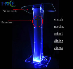 Acrylic Lectern School Furniture Plastic Rostrum Custom Podium Church Pulpit Hot Sale Glass Pulpit For Church Modern Designs