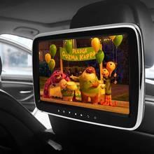 Автомобильный Hi-Fi стерео подголовник монитор Поддержка пульт дистанционного управления USB SD DVD видео MP5 плеер цифровой 9 дюймов HD lcd контактный экран Dis