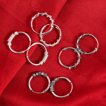 1 Pair Vintage Silver Round Earrings for Women Men Circle Nailhead Rings Earrings Lovers Punk Hoop Earring Fashion Jewelry Gifts(China)