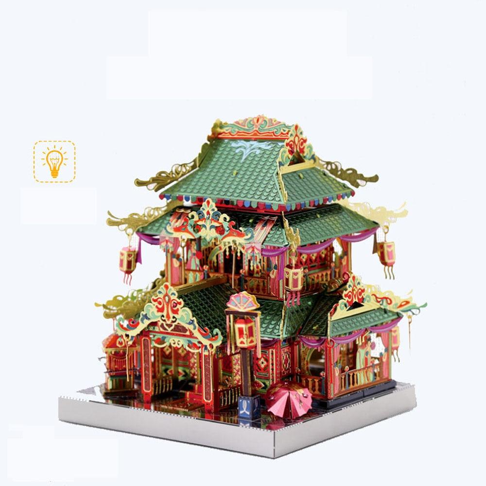 MU Yi-hong Courtyard Architecture 3D Metal Model Kits DIY Assemble Puzzle Laser Cut Jigsaw Building Toys Gift YM-N079-E