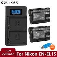 bateria EN EL15 EN-EL15C ENEL15 EN-EL15 Battery pack for Nikon D500 D600 ,D610 D750 D7000 D7100 D7200 D800 D800E D810 D810A&1 v1