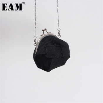 [EAM] Women New Woolen Split Joint Chain Long Personality Accessories Fashion Tide All-match Spring Autumn 2020 1K299