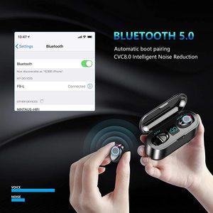 Image 4 - Bluetooth наушники TWS, беспроводные наушники 5,0, водонепроницаемые наушники вкладыши, спортивные наушники 2000 мАч, зарядное устройство, гарнитура, микрофон