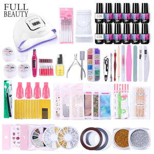 Nail set UV Led Lamp With Manicure kit Nail Gel Polish Kit Soak Off Dryer Machine Tools set Nail Sticker For Nail Art Kit CH1582